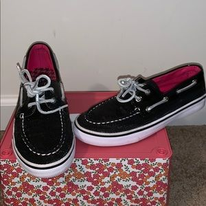 Girl's Sequin Sperry Top Sider Shoes Size Size 2.5